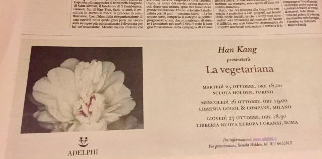 La Lettura, Corriere della Sera, 23 ottobre 2016